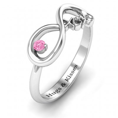 XOXO Infinity Solid Gold Ring