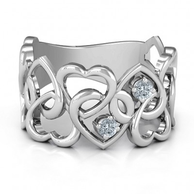Your Heart and Mine Solid White Gold Ring