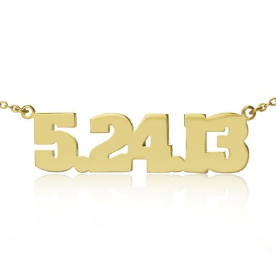 Gold Number Necklace