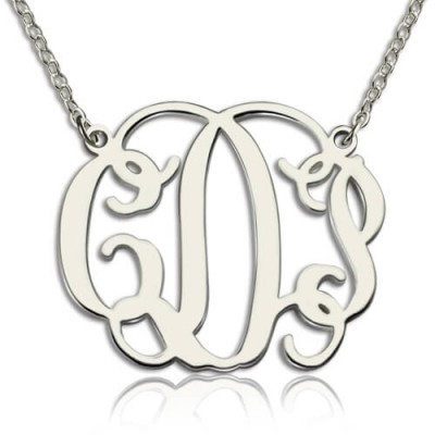 Solid Gold Taylor Swift Monogram Necklace