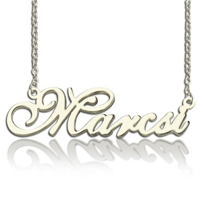 Solid Gold Nameplate Necklace