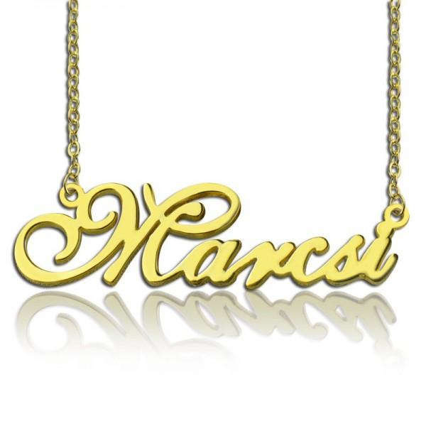 Personalised Nameplate Necklace - 18CT Gold