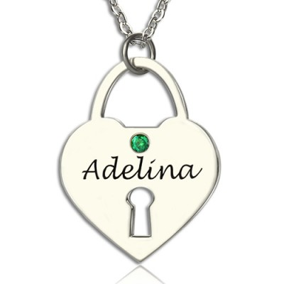 Solid Gold Heart Keepsake Pendant with Name