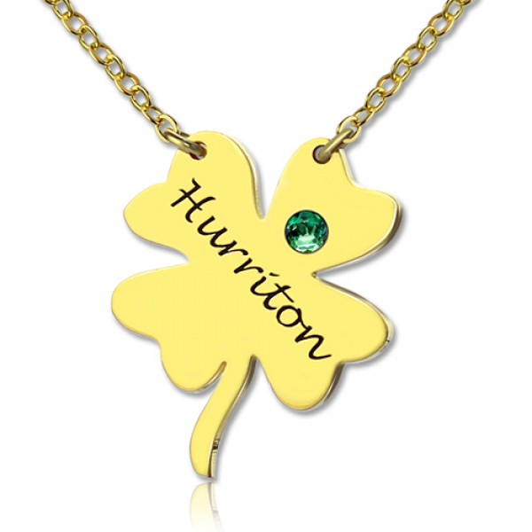 Good Luck Things - Clover Necklace - 18CT Gold