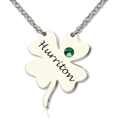 Solid White Gold Clover Good Luck Charms Shamrocks Necklace