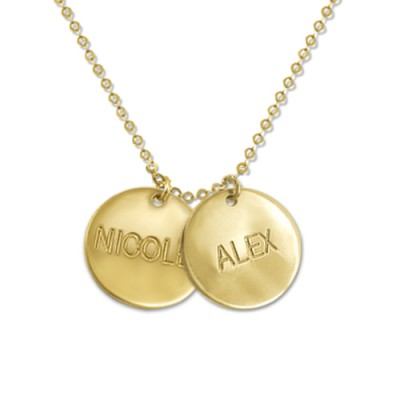 18CT Gold Mum Jewellery - Multi Disc Necklace