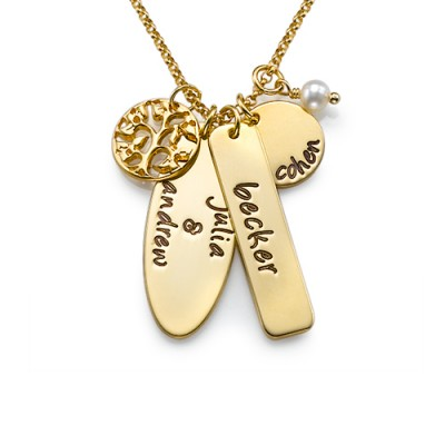 18CT Gold Family Tree Jewellery