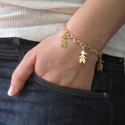 18CT Gold Engraved Kids Bracelet