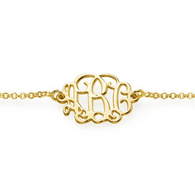 18CT Gold Monogram Bracelet/Anklet