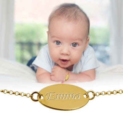 18CT Gold Personalised Baby Bracelet/Anklet