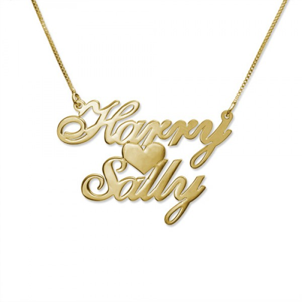 18CT Gold Two Name Love Necklace