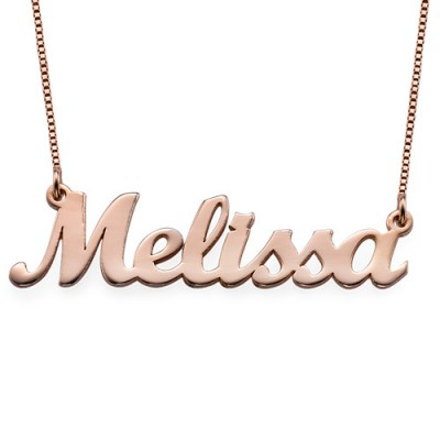18CT Rose Gold Script Name Necklace