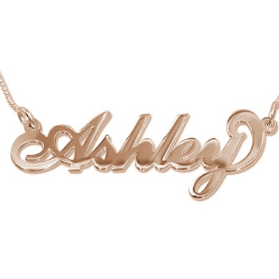 18CT Rose Gold Name Necklace