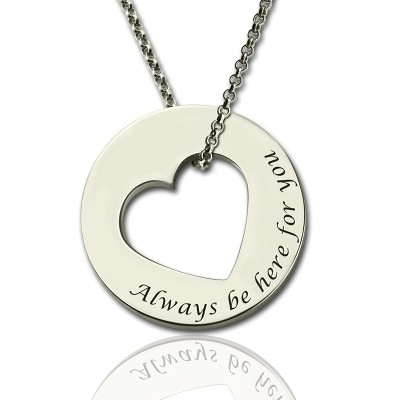 Solid Gold Promise Necklace For Her