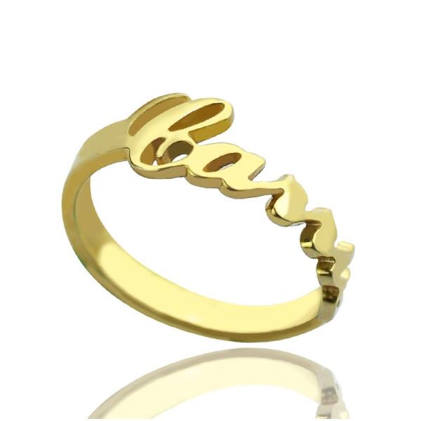 Custom Carrie Name Rings - 18CT Gold