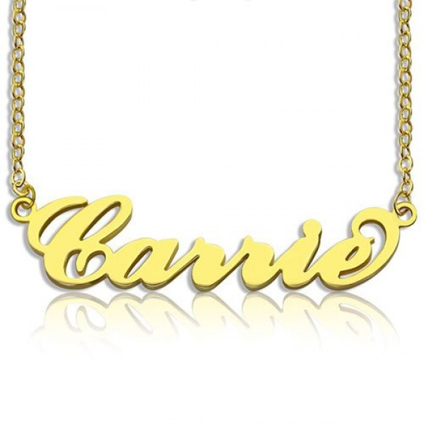 Personalised Carrie Name Necklace - 18CT Gold