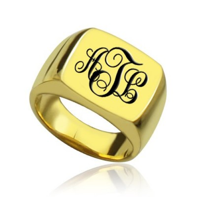 Custom - 18CT Gold Monogram Signet Ring