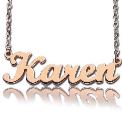 18CT Rose Gold Karen Style Name Necklace