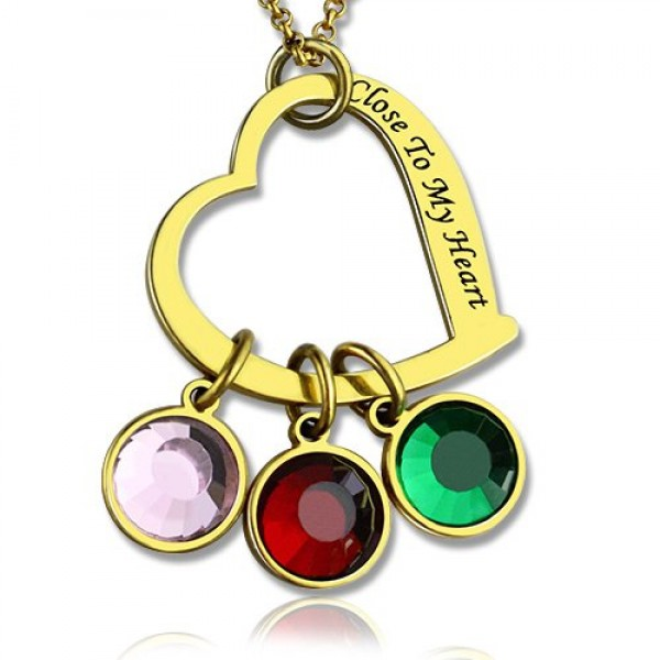 Personalised Close to My Heart Necklace - 18CT Gold