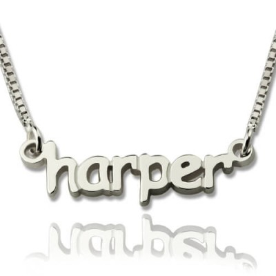 Solid Gold Mini Name Letter Necklace