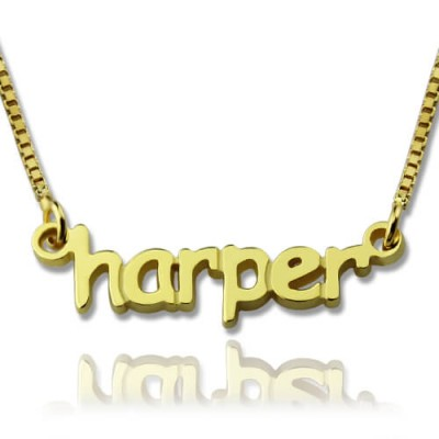 Personalised Mini Name Necklace - 18CT Gold
