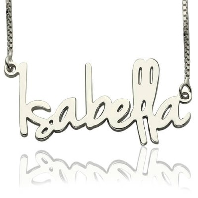Solid Gold Small Name Necklace For Her