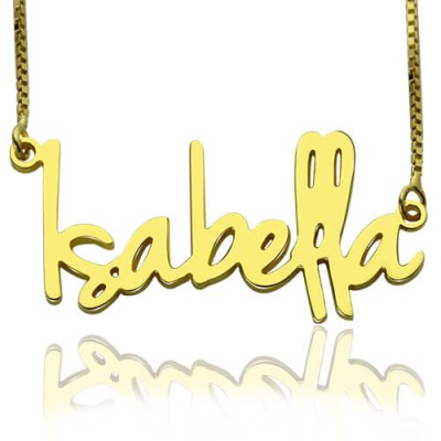 Small Name Necklace For Women - 18CT Gold