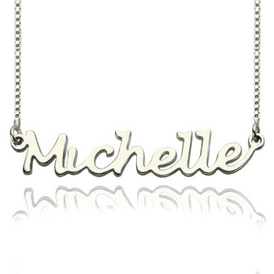 Solid Gold Handwriting Name Necklace