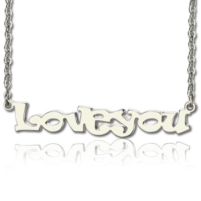 Solid Gold I Love You Name Necklace