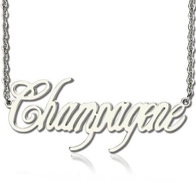 Solid Gold Unique Name Necklace
