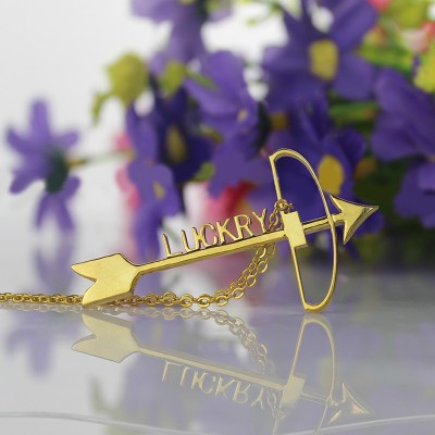 18CT Gold Arrow Cross Name Name Necklace s Pendant Name Necklace