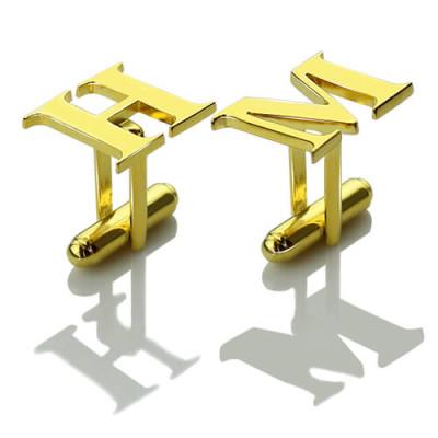Best Initial Cufflinks - 18CT Gold