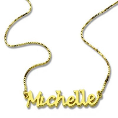 HandWriting Name Necklace 18CT Gold