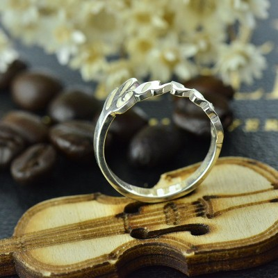 Carrie Name Solid Gold Rings Gift
