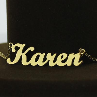 Gold Karen Style Name Name Necklace