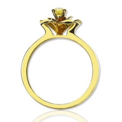Promise Rose Ring for Her with Birthstone - 18CT Gold