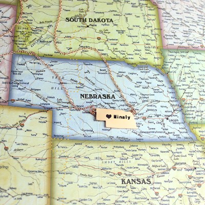Custom Nebraska State Shaped Necklaces - Rose Gold