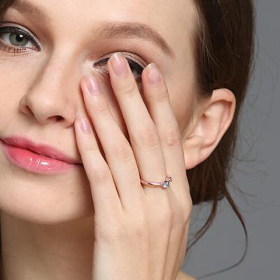 Dual Birthstone Ring 18CT Rose Gold