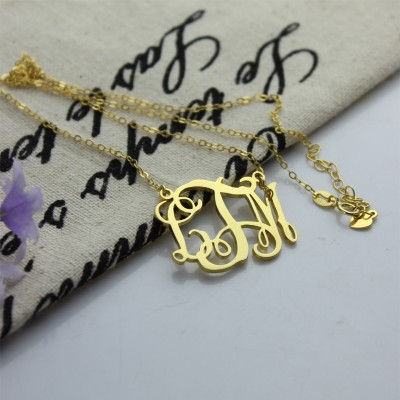 Cut Out Taylor Swift Monogram Necklace - 18CT Gold