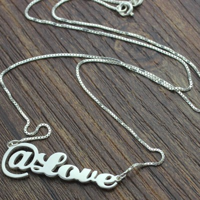Solid Gold Twitter At Symbol Name Necklace