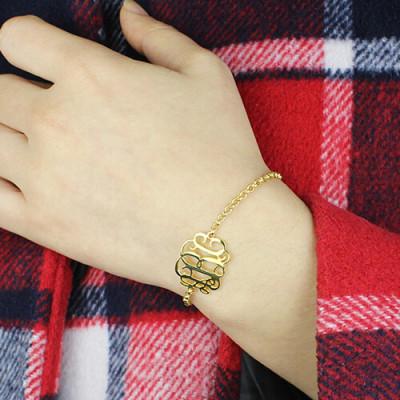 18CT Gold Monogram Bracelet
