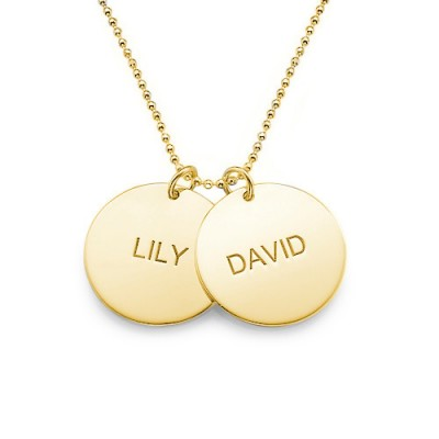 18CT Gold Disc Pendant Necklace
