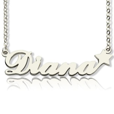 Solid Gold Letter Necklace Name Necklace
