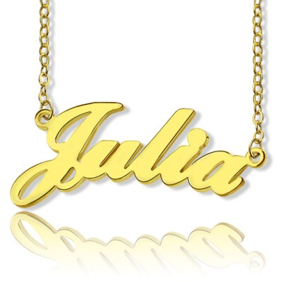 Solid Gold 18CT Julia Style Name Necklace
