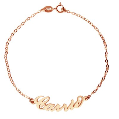 Rose Gold 925 Carrie Style Name Bracelet