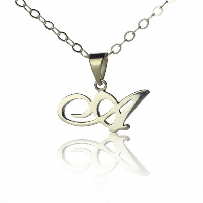 18CT White Gold Letter Necklace