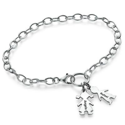 Solid Gold Mum Charm Bracelet/Anklet