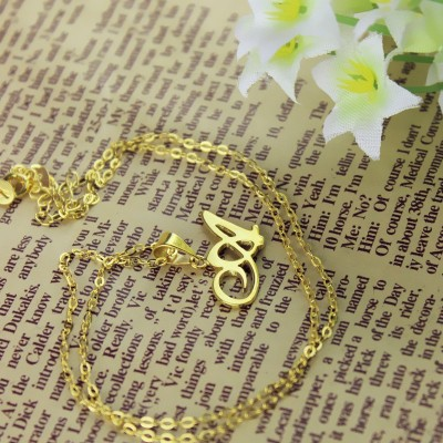Personalised Letter Necklace - 18CT Gold