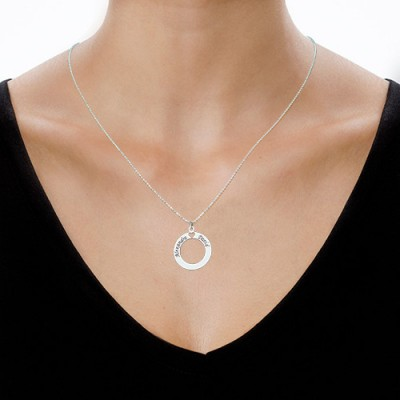 18CT White Gold Couples Love Necklace