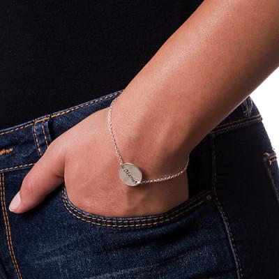 Solid Gold Engraved Disc Bracelet/Anklet